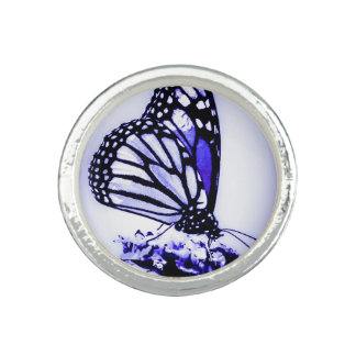 Monarch Butterfly, Blue - Photo Rings