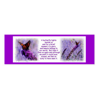 Monarch Butterfly Bookmark Double-Sided Mini Business Cards (Pack Of 20)