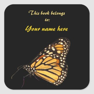 Monarch Butterfly Bookplate