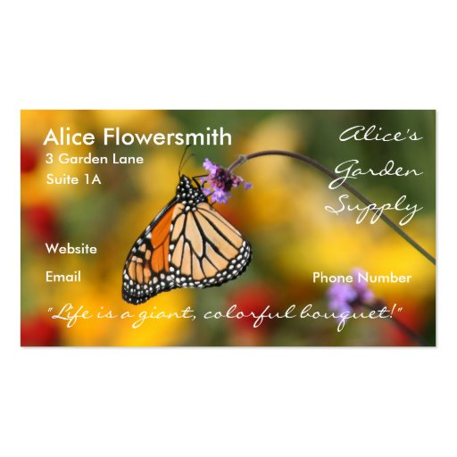 Monarch butterfly business card zazzle for Butterfly business cards