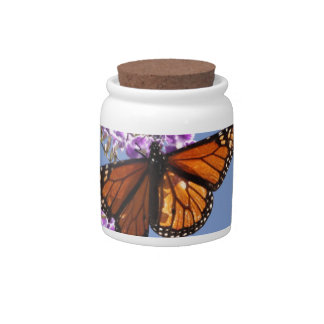 Monarch Butterfly Ceramic Candy Jar