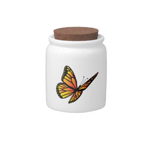 Monarch butterfly Candy Jars 10oz