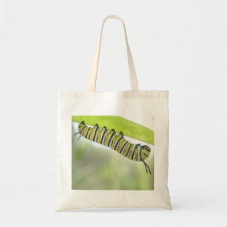 Monarch Butterfly Caterpillar Exploring A Milkweed Tote Bag