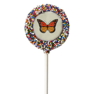 Monarch butterfly chocolate covered oreo pop