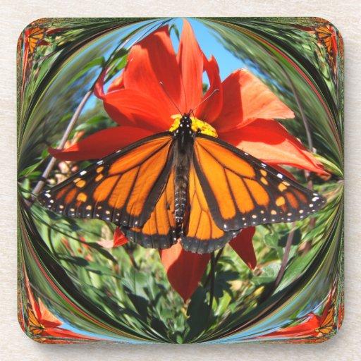 Monarch Butterfly ~ Cork Coaster