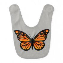 Monarch Butterfly Design - Baby Bib