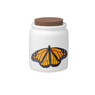 Monarch butterfly design candy jars