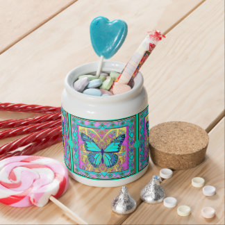 Monarch Butterfly Design Gifts by Sharles Candy Jar