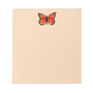 Monarch Butterfly Design on Notepad