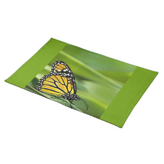 Monarch Butterfly Design Placemat Cloth Placemat