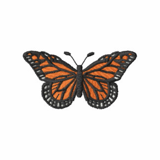 Monarch Butterfly Embroidered Hooded Sweatshirts
