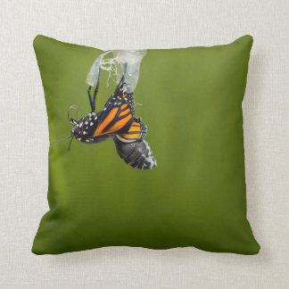 Monarch Butterfly Emerging From Cocoon Pillow