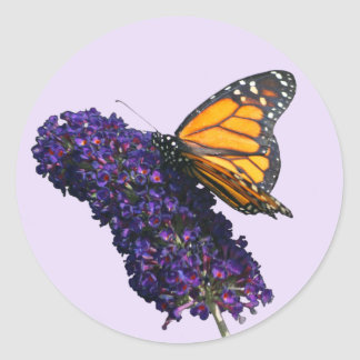 """""""monarch butterfly"""" envelope seal stickers"""