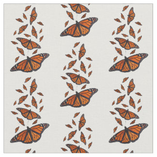 Monarch Butterfly Fabric (Choose Your Colour)