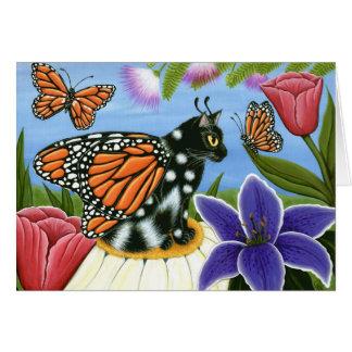 Monarch Butterfly Fairy Cat Fantasy Art Card
