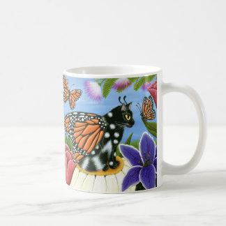 Monarch Butterfly Fairy Cat Fantasy Art Mug