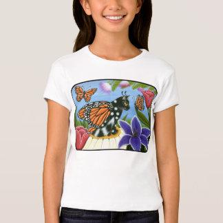 Monarch Butterfly Fairy Cat Fantasy Girls T-Shirt
