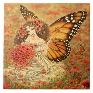 Monarch Butterfly Fairy Tile
