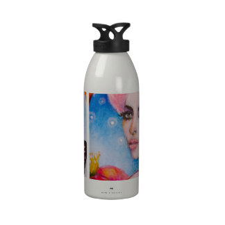 Monarch Butterfly Fairy with Pink Haiir Reusable Water Bottle