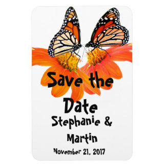 Monarch Butterfly Flower Floral Save the Date Magnet