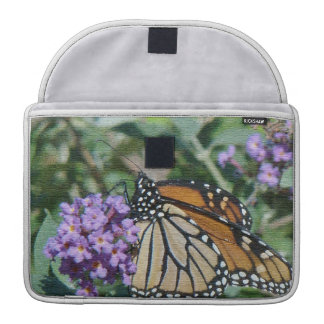 Monarch Butterfly Flowers Floral Wildlife Sleeve For MacBook Pro