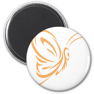 Monarch Butterfly Flying in Swish Drawing Style Magnet