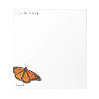 "Monarch Butterfly ""From the desk of..."" notepads"