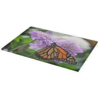 Monarch Butterfly Glass Cutting Board (11x8)