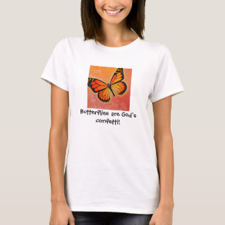 Monarch Butterfly God's confetti t-shirt