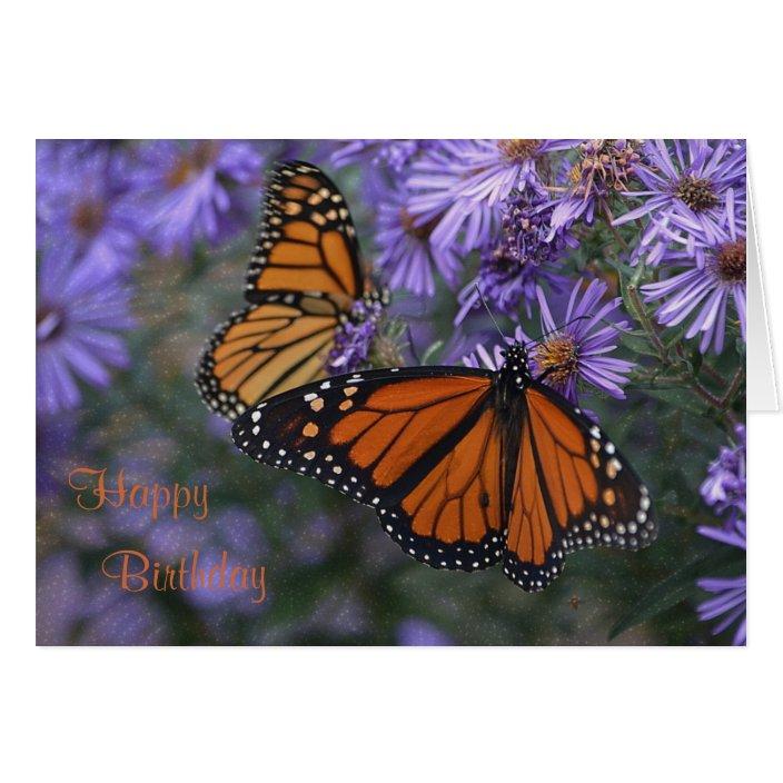 Monarch Butterfly Happy Birthday Zazzle Com