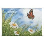 Monarch Butterfly - Happy People Placemat Cloth Place Mat