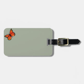 Monarch Butterfly Illustration on Luggage Tags
