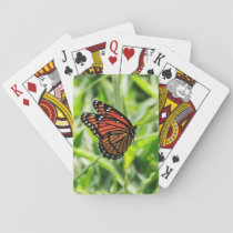 Monarch butterfly in flight playing cards