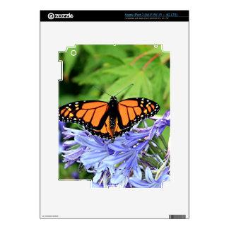 Monarch butterfly in garden skin for iPad 3