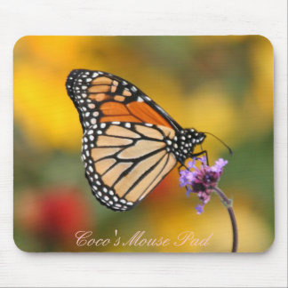 Monarch Butterfly In Search of Pollen Mouse Pad