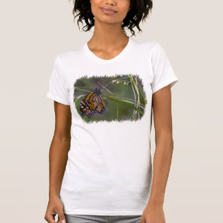 Monarch Butterfly in the Grass White Edge T-Shirt