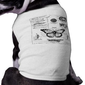 Monarch Butterfly Information Doggie T-shirt