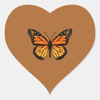 Monarch Butterfly Joy Heart Sticker