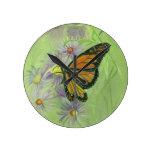 Monarch Butterfly.jpg Round Wallclock