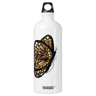 Monarch Butterfly , Just Landed Aluminum Water Bottle