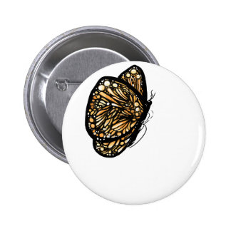 Monarch Butterfly , Just Landed Pinback Buttons