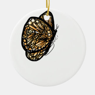 Monarch Butterfly , Just Landed Ceramic Ornament
