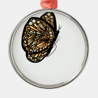 Monarch Butterfly , Just Landed Metal Ornament