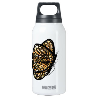 Monarch Butterfly , Just Landed Thermos Water Bottle