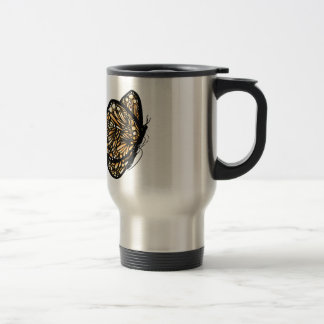 Monarch Butterfly , Just Landed Travel Mug