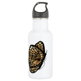 Monarch Butterfly , Just Landed Water Bottle