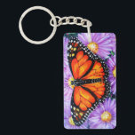 """Monarch Butterfly Keychain<br><div class=""""desc"""">Monarch Butterfly - Acrylic on Canvas - 14&quot; X 11&quot; Angel Egle Wierenga</div>"""