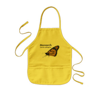Monarch butterfly kids' apron