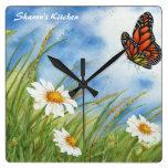 Monarch Butterfly Kitchen Clock