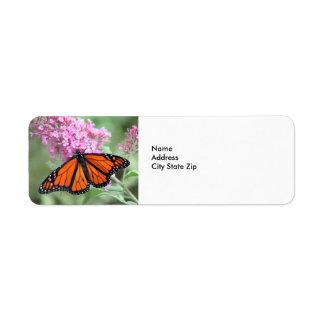 Monarch Butterfly Label